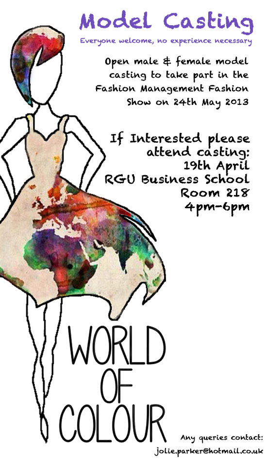 World of Colour - Model Casting