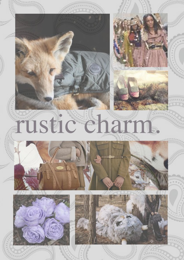 Rustic Charm - mood board