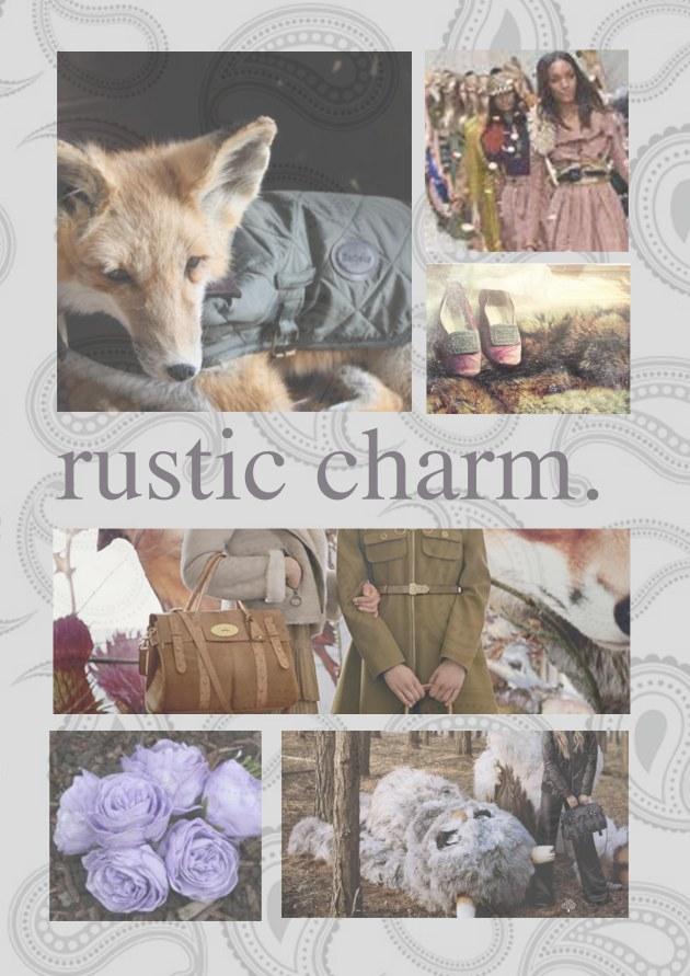 Rustic Charm - mood board
